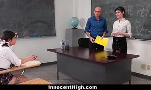 Innocenthigh - teaching assistant copulates sexy student & professor