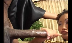 Anal interracial sex for little oriental slutty wife and large dark wang