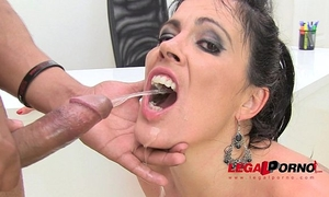 Huge a-hole montse drinks pee (piss drinking anal threesome) sz584
