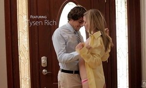 Nubile films - cute legal age teenager face splattered with spunk