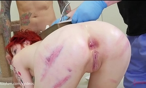 Anal birth - ava little gives birth to kittens out of her backdoor