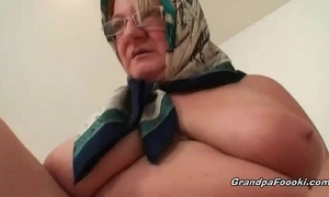 Fat older golden-haired can't live without hardcore sex
