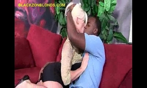 Interracial pair makes out