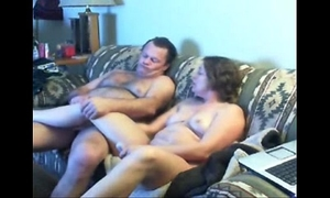 Watch mom and daddy home alone having enjoyment. hidden webcam