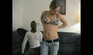 Huge interracial surprise for blond
