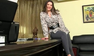 Fake agent having sex on leather ottoman