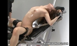 Nasty oriental whore in thraldom acquires her wet crack teased