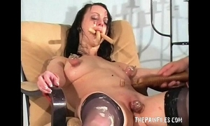Bizarre female humiliation and indecent degradation of food enslaved smutty wench