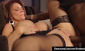 Hot aged cougar deauxma receives screwed by a large dark jock!