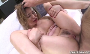 Horny Spanish dude fucks and chokes pretty young girl
