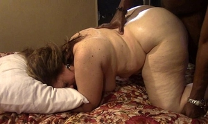 Brunette milf receives drilled hard by large dark ramrod