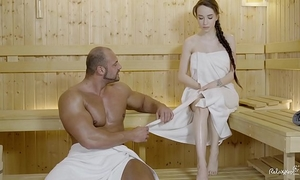 Relaxxxed - hard fuck at the sauna with handsome russian honey angel rush