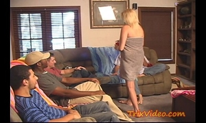 Cheating soccer mamma acquires gang group-fucked